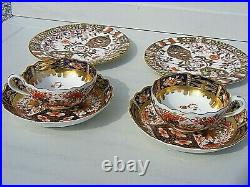 Antique Royal Crown Derby Cups And Saucers Imari