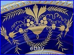 Exceptional Royal Crown Derby Cobalt Blue Background Cabinet Plate 1911