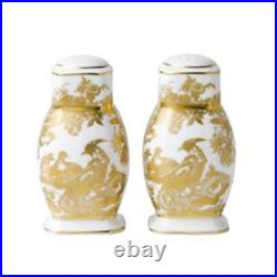 Gold Aves by Royal Crown Derby Salt & Pepper Shaker, Factory Brand NEW