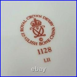Royal Crown Derby 1128 Old Imari 8.75 Inch Gold Band Octagonal Plate 1989 Second