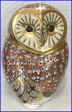 Royal Crown Derby Barn Owl Figurine Royal Crown Derby