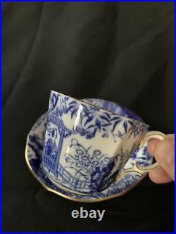 Royal Crown Derby Blue Mikado Gold Trim 5 Piece Place Setting NR MINT MORE avail