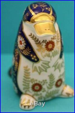 Royal Crown Derby Duck Billed Platypus Decorative Paperweight Silver plug