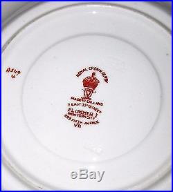 Royal Crown Derby Imari AVES Teaset & Plates 21pc &11 Mahogany