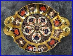 Royal Crown Derby Imari Pattern RAISED DECORATIVE SWEET TRINKET DISH + HANDLES