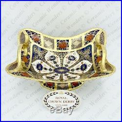 Royal Crown Derby Old Imari 1128 Solid Gold Band 1919 Basket 1st Quality