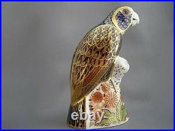 Royal Crown Derby Paperweight Bronze Winged Parrot