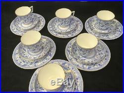 Royal Crown Derby Pembroke Blue Tea Set for 6 c1891 1900 & More Pieces Extra