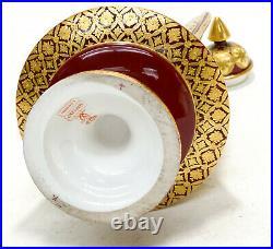 Royal Crown Derby Porcelain Gold Encrusted Twin Handled Lidded Urn, circa 1880