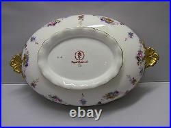 Royal Crown Derby ROYAL ANTOINETTE Covered Vegetable Bowl