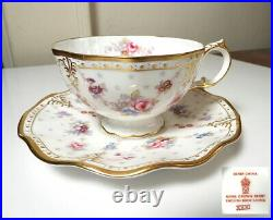 Royal Crown Derby ROYAL ANTOINETTE Cup and Saucer