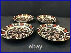 Set Of 4 Royal Crown Derby Old Imari Fruit Dessert Bowls 6.5 1st Quality MINT